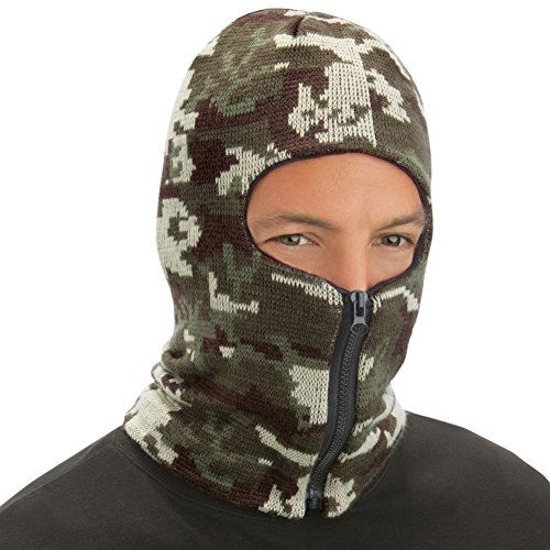 Collections Etc 35539 Balaclava Style Zippered