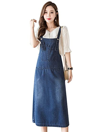 where to buy the latest arriving Amazon.com: Drasawee Women's Loose Casual Denim Overall ...