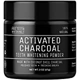 #9: Activated Charcoal Natural Teeth Whitening Powder by Pro Teeth Whitening Co Grey Charcoal (non abrasive and proven safe for enamel) From Coconut Shells | Manufactured in England