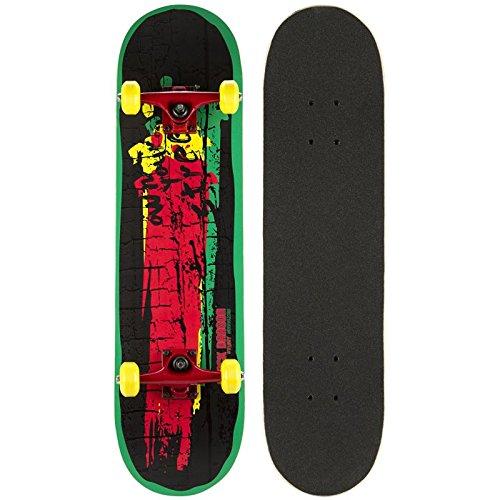Schreuders Sport Unisex Wood Black Dragon Skateboard, Anthracite/Red/Grey, One Size