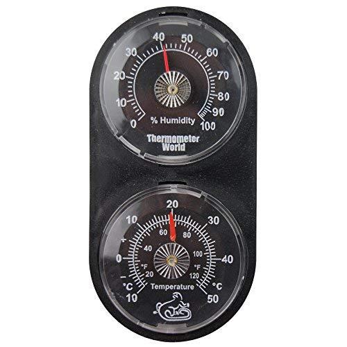 Twin Reptile Réservoir Thermomètre hygromètre–Surveillez la température et l'humidité en Terrarium vivarium Thermometer World