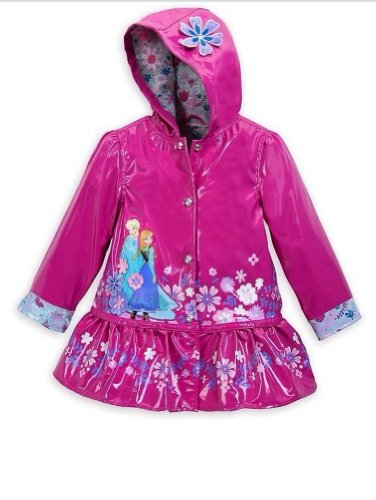 Disney Frozen Anna and Elsa Rain Jacket XXS Extra Extra Smal