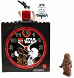 LEGO Kids' Star Wars Chewy and Stormtrooper Clock Set #CLKSTW1
