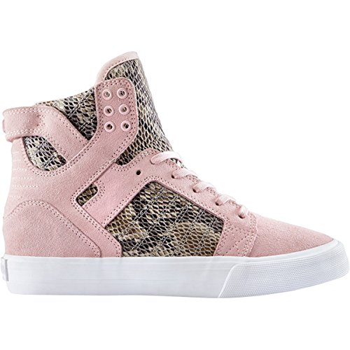 (Supra Women's Elyse Walker Skytop Wedge, Pink/Brown/White Medium / 8 B(M) US )