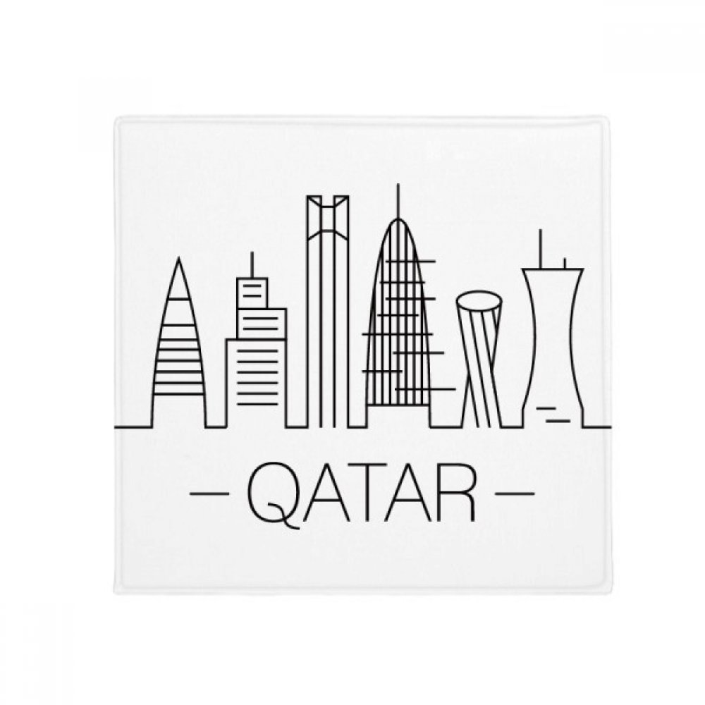 DIYthinker Drawing City Qatar Landmark Anti-Slip Floor Pet Mat Square Home Kitchen Door 80Cm Gift