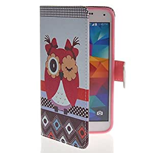 MOONCASE Funda Carcasa Cuero Tapa Case Cover para Samsung Galaxy S5 I9600