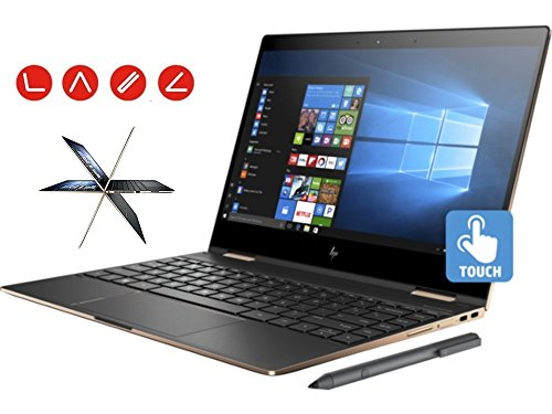 "Price comparison product image HP Spectre x360 13t Ultra Light Convertible 2-in-1 Laptop (Intel 8th gen i7-8550U Quad Core, 16GB RAM, 1TB SSD, 13.3"" UHD 4K (3840x2160) Touch, Active Stylus Pen, Win 10 Pro) Dark Ash Silver"