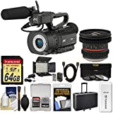 JVC GY-LS300CHU Ultra 4K HD 4KCAM Super 35 Pro Camcorder & Mic Handle Audio Unit + 12mm T/2.2 Lens + 64GB Card + Case + Video Light + 3 Filters Kit