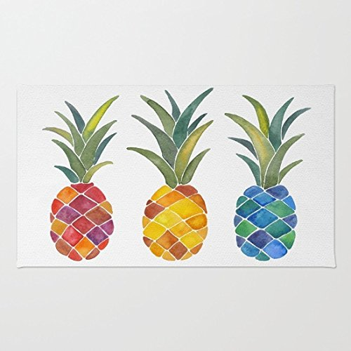 Pineapple Mat - Doormat Floor Mat Rug Inside Rubber Doormat 23.6''(L) x 15.7''(W) Pineapples Rug