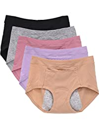 Panties Cycle Period Briefs Leak-Proof Underpants for Women Packs of 5