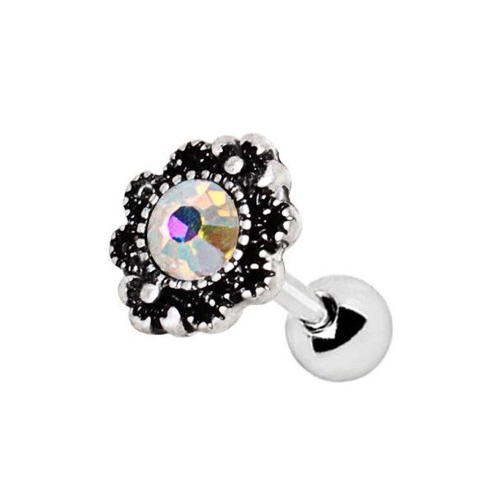 316L Stainless Steel Aurora Oval Charm WildKlass Cartilage Earring