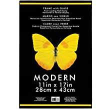 "Modern Plastic W/Glass Photo Frame 11""X17""-Black"