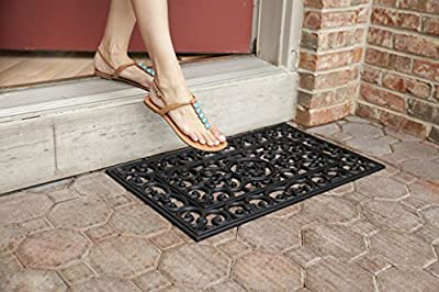 Entryways Criss Cross All Natural Coconut Fiber Coir, Recycled Rubber and Natural Latex Bootscraper Doormat
