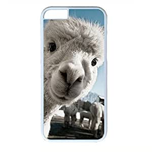Hard Back Cover Case for iphone 6,Cool Fashion Art White PC Shell Skin for iphone 6 with Funny Grass Mud Horse