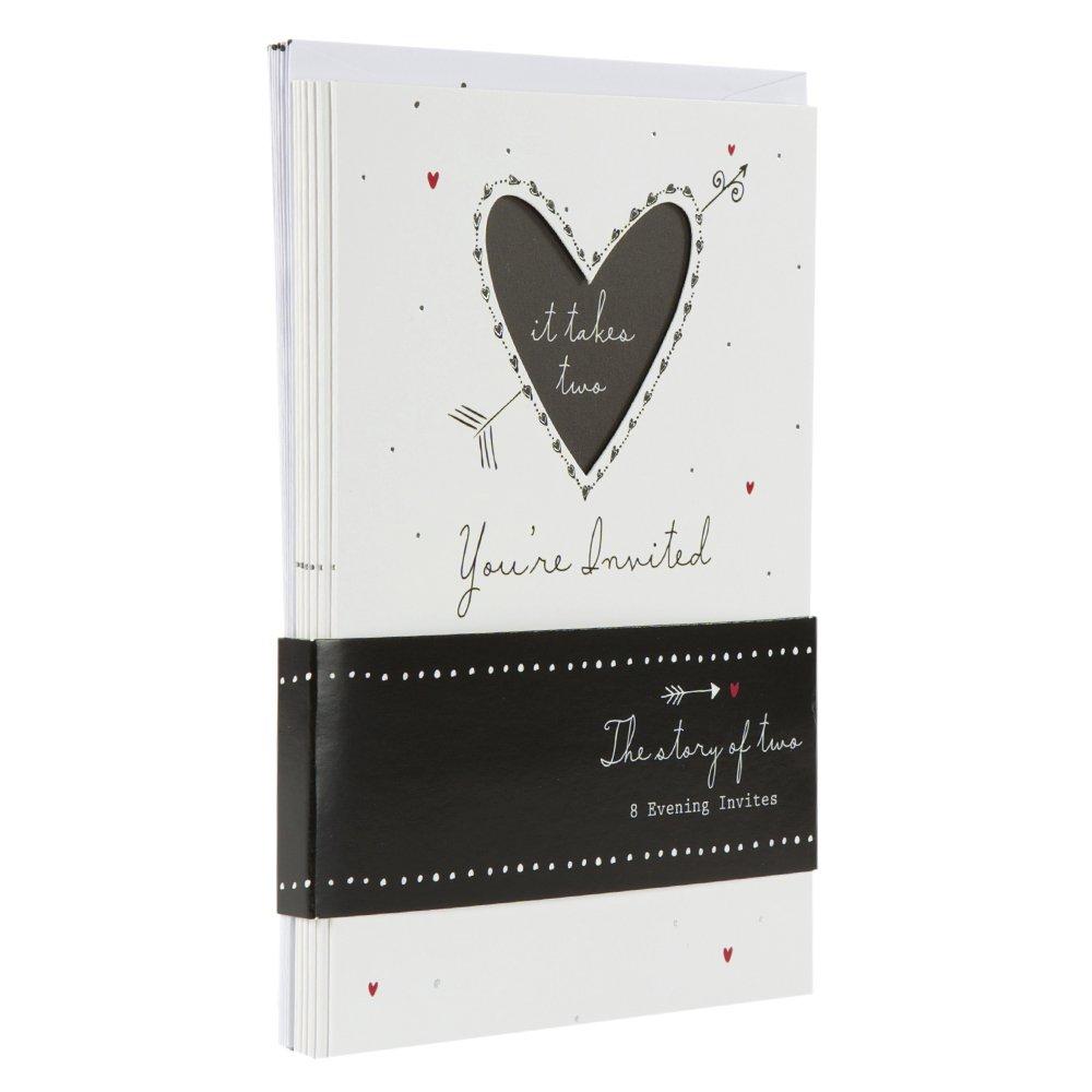 Hallmark Wedding Invitations U0027For Eveningu0027   Pack Of 8 Cards: Amazon.co.uk:  Office Products