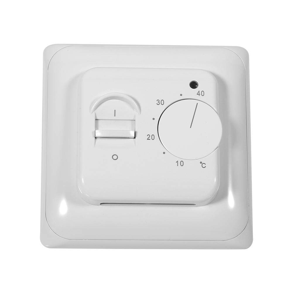 Zerodis Room Floor Mechanical Thermostat Heating Thermostat Air Condition Temperature Control Switch with 2.9m Sensor Cable