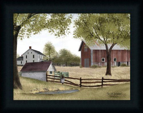 Americana Framed (The Old Springhouse by Billy Jacobs Country Americana Farm House Framed Art Print Wall Decor)