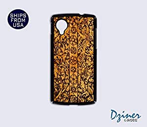 Nexus 5 Case - Carved Wood Design iPhone Cover (NOT REAL WOOD) by Maris's Diary