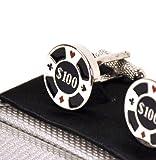 Cufflinks - $ 100 of poker chips