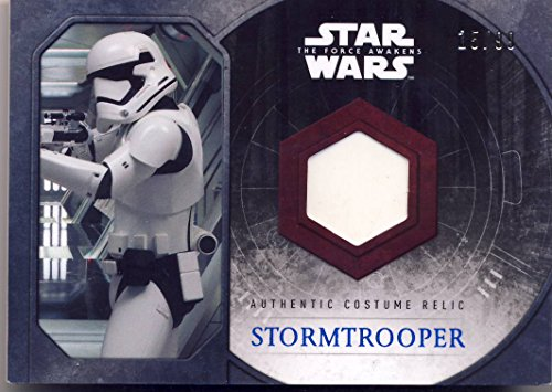 2015 Topps Star Wars: The Force Awakens Series 1 Authentic Costume Relic Stormtrooper Lower Leg (Stormtrooper Costumes Authentic)