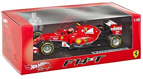 Hot wheels BLY68 2014 Ferrari F1 F14 T Formula 1 F2014 Kimi Raikkonen 1/18 Diecast Car Model by - Ferrari F1 Models