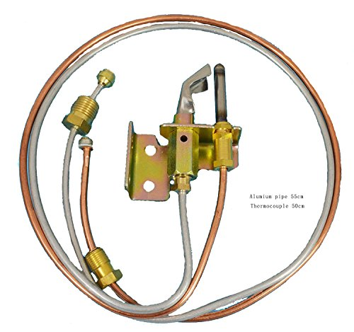 MENSI Water Heater Pilot Burner With Pilot Thermocouple and Tubing LP Propane 1 PCS Water Heater Burner