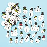Snowman Glitter Foam Stickers (Pack of 80)