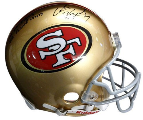 ned San Francisco 49ers Riddell Proline Football Helmet - Autographed NFL Football Helmets ()