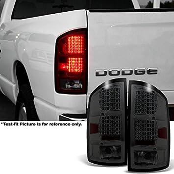 Fits Black Smoked 02-06 Dodge Ram Pickup Truck LED Tail Lights Brake Lamps Pair