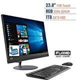 2019 Lenovo Ideacentre Business 520 23.8'' Touchscreen FHD(1920x1080) All-in-One Desktop PC, AMD A12-9720P 2.7GHz, 8GB DDR4, 1TB HDD, DVD-RW, Bluetooth, Radeon R7, HDMI, Keyboard & Mouse, Windows 10