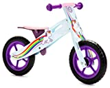 Nicko Unicorn Rainbow Girls Children's Wooden Balance Bike NIC866