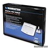Manhattan 3''x4''-inch USB Graphics Tablet with Wireless Pen for Home and Office