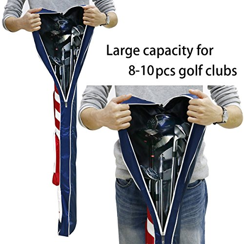Craftsman Golf Stars and Stripes American USA US Flag Club Case Sunday Bag Red White Blue For 6-7 Clubs 49'' by Craftsman Golf (Image #3)