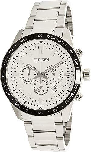- Citizen Men's AN8071-51A Silver Stainless-Steel Analog Quartz Dress Watch