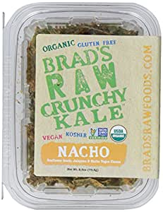 Brads Raw Leafy Kale Natural Nacho Chips, 2.5 oz