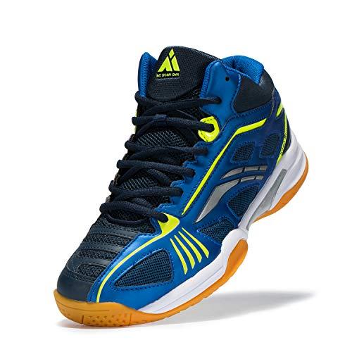 Mishansha Mens Hard Court Tennis Shoes Athletic Indoor Outdoor Racquet Squash Sports Sneakers Blue, 10