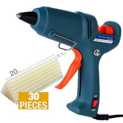 Hot Glue Gun kits -- RAGNAROS 60 Watt best Hot Melt Glue Gun- High-Tech Electronic PTC heating technology For Arts & Crafts, & Sealing and Quick Repairs,Green (30 hot glue gun sticks INCLUDED)