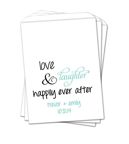 Amazon Personalized Custom Wedding Favor Bags Love Laughter