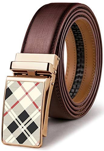 (Mens Belt,Bulliant Leather Click Ratchet Belt For Mens Dress Casual Golf Belt,Size-Customized)
