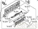 HP RM1-2990-000CN Left door assembly - Includes flapper pad, left door, facedown guide, left door handle, compression spring, and screw