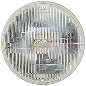 "SYLVANIA H6024 SilverStar High Performance Halogen Sealed Beam Headlight (7"" Round) PAR56, (Contains 1 Bulb)"