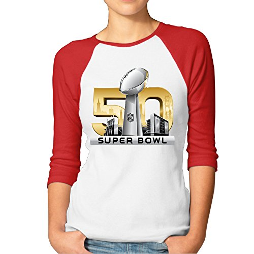 Jersey Baseball Lady Summer T Shirt With Super Bowl 50