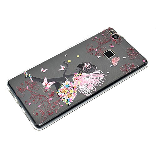 Funda Huawei MATE 10 LITE Carcasa, Mosoris Suave Transparente TPU Silicona Parachoques Tapa Ultra Delgado Flexibilidad Protectora Caso Anti-Aranazos Espalda Movil Celular Cubierta Absorcion de Impacto Color No. 1