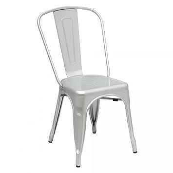 Brilliant Amazon Com Designer Modern Elio Tolix Chair In Silver Set Theyellowbook Wood Chair Design Ideas Theyellowbookinfo
