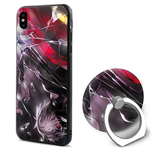 GekhHaon Tokyo Ghoul Phone X Mobile Phone Shell Shell Ring Bracket Cover Cases ()