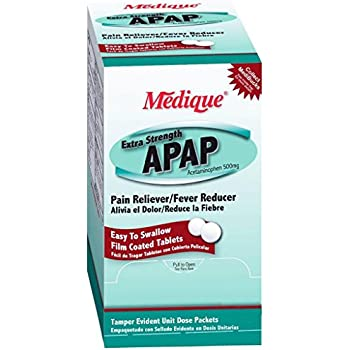 Medique Apap Extra Strength Pain Relief Acetaminophen Tablets - MS71230 (500)