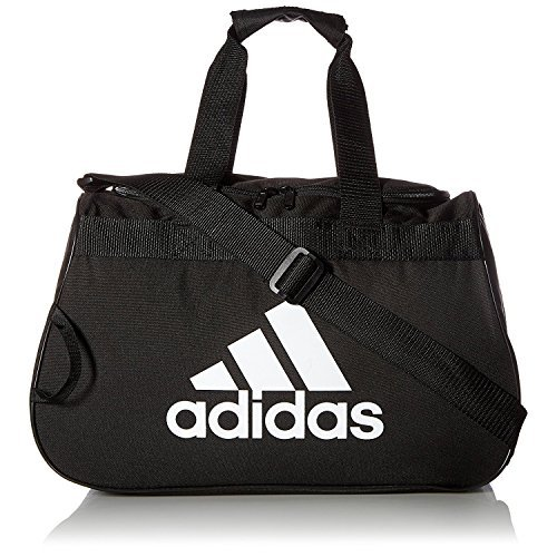 Adidas Gear Up Diablo Small Duffel Bag Black/Grey Logo (Adidas Diablo Small Duffel)