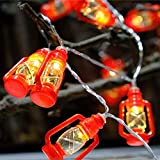 1 LED Lantern String Lights, 2 m 20 LED For Bedroom, Festival Party, Garden, Personality DIY and Bar Decoration (Red)