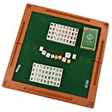KIINGSUNG Mini 144 Mahjong Tiles Chinese Mahjong Mahjongg Travel Game Set for Whole Family Fun Compact Size
