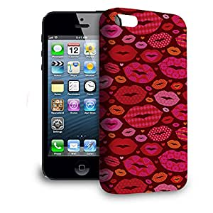 Phone Case For Apple iPhone 5 - Hot Lips Back Wrap-Around